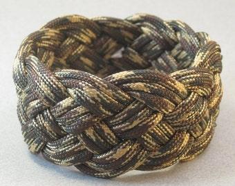 camo paracord rope bracelet slip on cuff armband turks head knot bracelet 3824