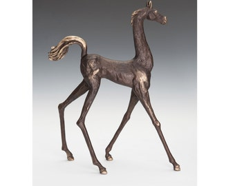 Stylized Mare (short neck) bronze sculpture