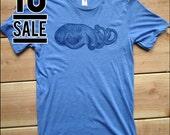 10 DOLLAR SALE--Cuttlefish Men's Blue Triblend tshirt