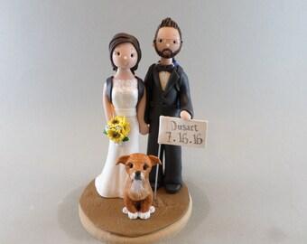 Cake Topper - Custom Made Hiking Theme Wedding