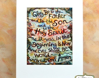 The Glory Be Painted Prayer, world without end, amen