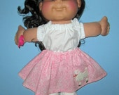 "Cabbage Patch Kids  Doll Clothes  Poodle Skirt and Top Set  14""  or 15"" Doll Adoptimals  Girl Doll"