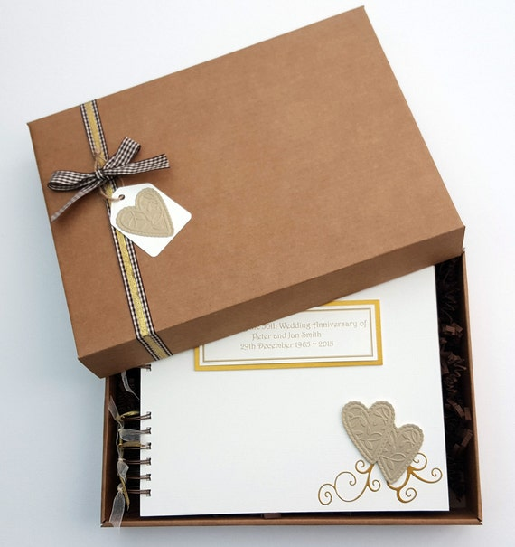 Wedding Gift Record Book: 50th Anniversary Guest Book Golden Wedding Memory Book