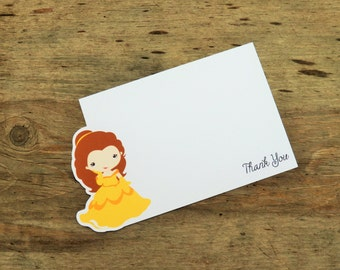 Belle & Friends Party - Set of 8 Belle Thank You Cards by The Birthday House