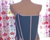 Custom Order 18th Century Colonial Strapless Corset Upon Request