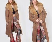 Vintage 70s LEATHER Jacket Belted ALMOST FAMOUS Jacket Suede Boho Jacket Shearling & Fur Jacket Boho Hippie Jacket