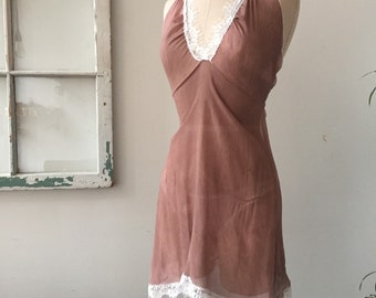 Spring Fling Silk Chiffon and Lace Lingerie Slip