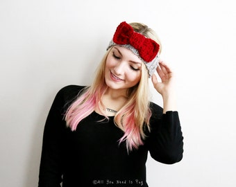 Minnie Bow Tie Headband - Bow Headband - Custom Headband - Head Wrap