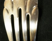 "1847 Rogers Bros Cold Meat Serving Fork - ""Heritage"" 1953 Pattern - Silverplate, Great Condition, Dining Table"