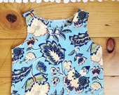 Crop top Little girl clothes 2T - girls clothes kids clothes tank top spring summer bright floral high low shirt toddler boho clothes top