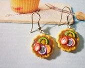 SALE - Fruit Tart Cookies Dangle Earrings