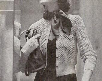 Metropolitian Cardigan Vintage Knitting Pattern 407