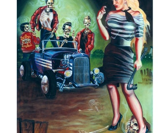 Trouble With Zombies - Oil on canvas- featured in Juxtapoz