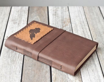 Lake Superior Leather Journal, Large Rustic Sketchbook