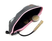 Inner tube coin purse pink zip M + valve zipper handmade recycled upcycled vegan bicycle bike cycling stash bag, pouch, tyre +ASAP delivery