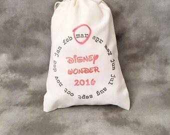 Disney Fish Extender Bags - Wonder - Dream - Fantasy - Magic - Customized - Set of 10 - Cruise Ship Gift Exchange - Door Hanging - Calendar