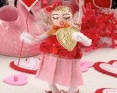 Vintage Inspired SuGaR SwEeT Valentine Spun Cotton Girl Keepsake BE MINE VALENTINE