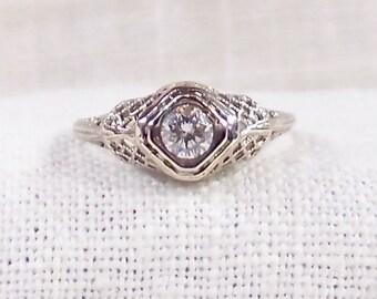 Vintage 14K Diamond Engagement Ring .43 Carat