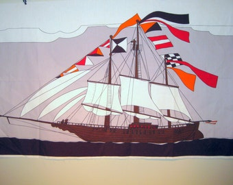 Howard Smith Vallila Finland Screen Printed Fabric, Scandinavian Textiles