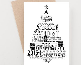 New Orleans Christmas Cards, Holiday 2015 Christmas and New Years
