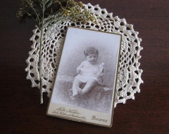German Edwardian or Victorian baby cabinet card