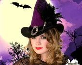 Deluxe Steampunk Witch Hat - Broom Rider