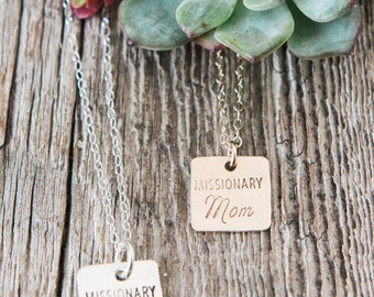 Missionary Mom Necklace, Missionary Necklace, Mom Jewelry, Missionary Mom, Gifts for Moms, LDS Missionary Necklace, Mormon Mission