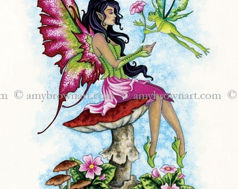 5x7 A True Gentleman fairy PRINT by Amy Brown