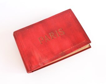 Antique Photo Album Albumen Prints Paris 1870-1890