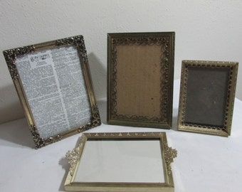 Metal Picture Frames Set of 4 Ornate