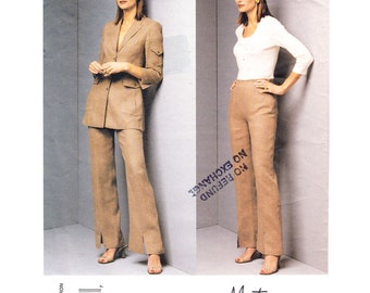 Jacket and Pants Sewing Pattern Vogue 2649 Montana Designer Suit Fitted Jacket Trousers Slacks Size 8 10 12 Womens Sewing Pattern UNCUT