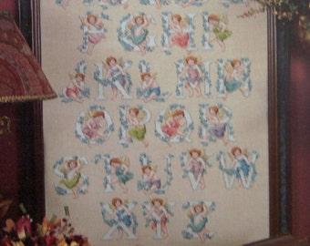 1996 cross stitch patterns Angel Alphabet