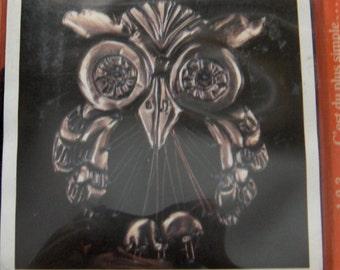 vintage 70s copper art kit OWL unused NIP craft