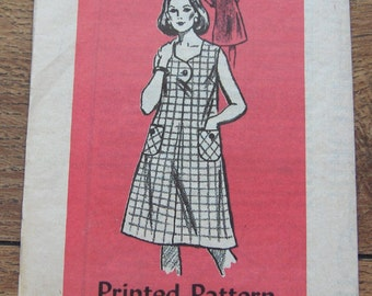 vintage 60s mail order pattern 4633 misses DRESS sz 12 1/2  uncut