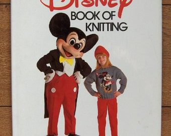 Vintage 1987 knitting patterns The DISNEY Book of Knitting Mickey Snow White seven dwarfs Dumbo Jungle Book Donald and Daisy duck + more