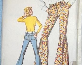 Vintage sewing pattern Kwik Sew 407 LADIES' JEANS sz 12-14-16 uncut
