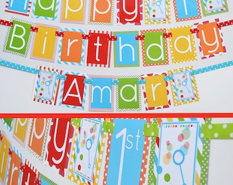 Bubbles and Balls Birthday Party Banner Decorations  Fully Assembled | Bouncy Ball Party | Ball Pit Party | Bubbles Birthday | Bubble Party