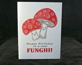 Funghi Mushroom birthday card