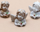 Decorative Christmas Angel, Shabby Chic - Miniature Christmas Decoration in 12th Scale for Dollhouse
