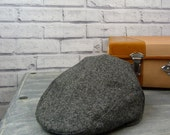 Mens Flat cap - Contemporary Black/Grey Yorkshire Tweed