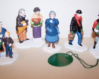 Heritage Village, David Copperfield, Department 56, Set of 5 Figurines, Copperfield Figurine, Christmas Village, Porcelain Figurines