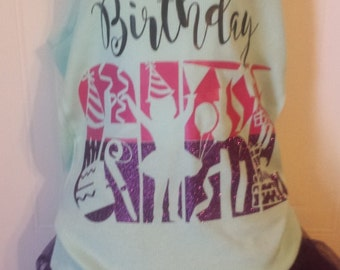 Birthday Girl Party hat Streamers Present Colorful Shirt or tank top