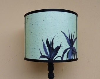 Cactus and Agave light green teal lamp shade lampshade - unique light, lighting, accent lampshade, cactus, succulents, contemporary decor