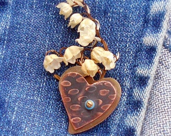 Raining in My Heart Boutonniere Pin