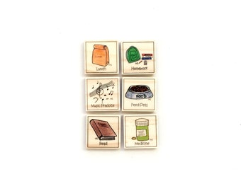 Growing Up - Chore Magnet Set of 6 - Chore Magnets