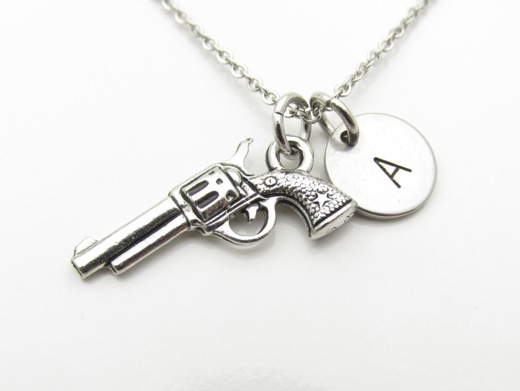gun necklace revolver necklace gun by cranberrystreetny