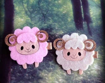 Kawaii Horned Sheep Hair Clip