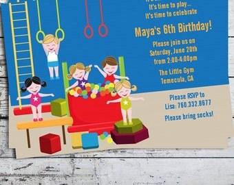 Tumble Gym - Birthday Party Invitation - Professionally printed *or* DIY printable PDF