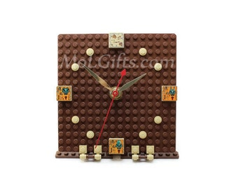 Egyptian Clock made from LEGO (r) Pieces, Egypt Clock, Egyptian Hieroglyphics