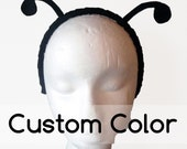Simple Antenna. You Choose Color. Butterfly Bug on Metal Headband. Felt. Halloween, Purim.